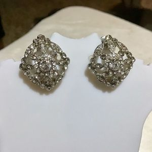 ❇️Vintage Silver & Crystal Earrings